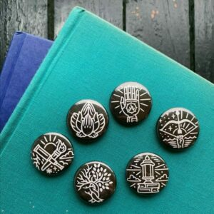 Guild Pinback Buttons – Black