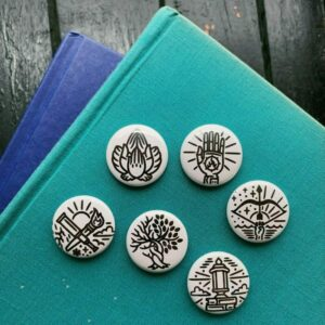 Guild Pinback Buttons – White